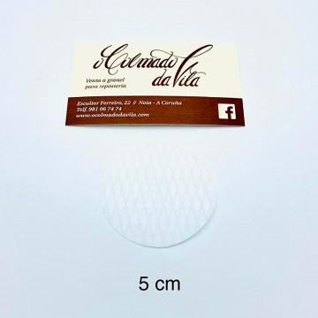 Oblea redonda de 5 cm