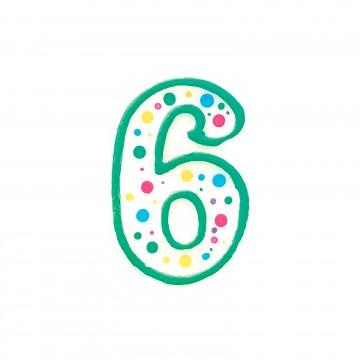 Vela verde nº6